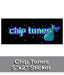 Chip Tunes Sticker
