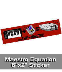 Maestro Equation Sticker